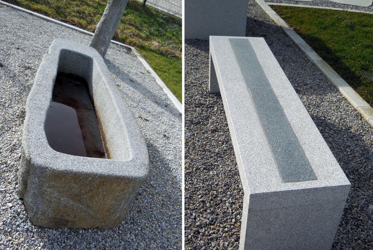 Naturstein Design, Gartenbänke, Tröge, Findlinge, Steine, Bodenplatten, Grander, Innviertel, OÖ.
